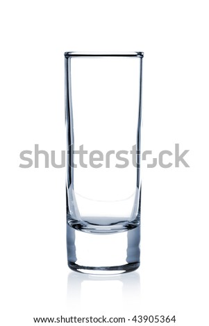 Cocktail Glass Collection - Large Shot. Isolated on white background - stock photo