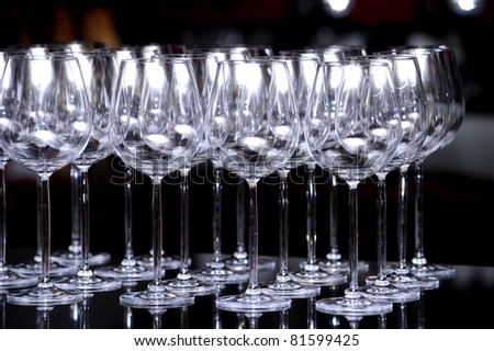 Cocktail Glass Collection - wine glasses - stock photo