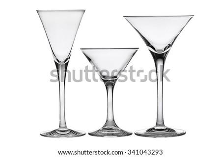 Cocktail glasses. - stock photo