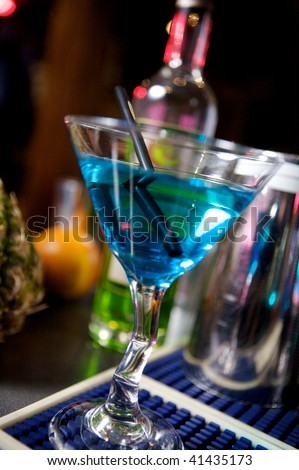 cocktail in a bar - stock photo