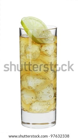 Cocktail jameson & ginger - stock photo