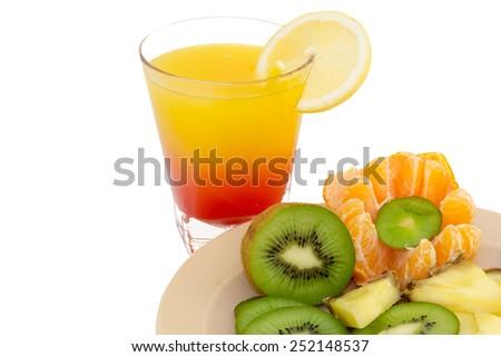 Cocktail Lemon - stock photo
