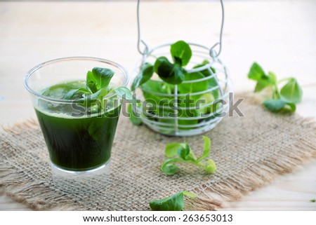 cocktail of green vegetables - stock photo