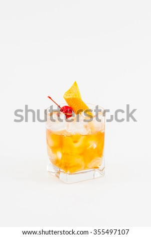 Cocktail Old fashioned - stock photo