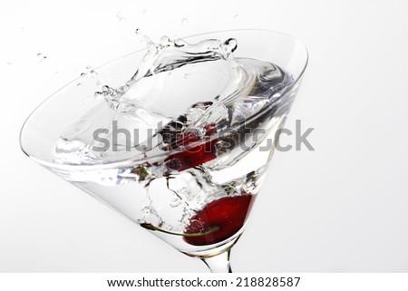 cocktail splash - stock photo