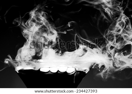 cocktails with on smoke  - stock photo