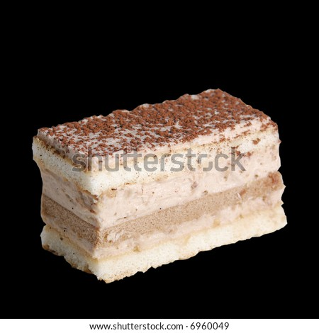 Cocoa cookie on pure black background. Easy to use on your project - stock photo