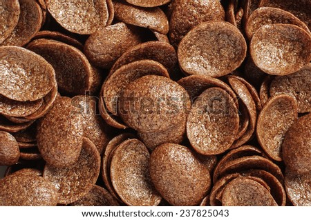 Cocoa crunch cornflakes abstract texture background - stock photo