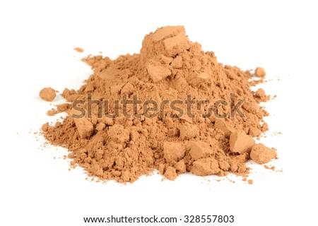 Cocoa Powder Isolated on White Background - stock photo