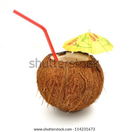 Coconut cocktail - stock photo