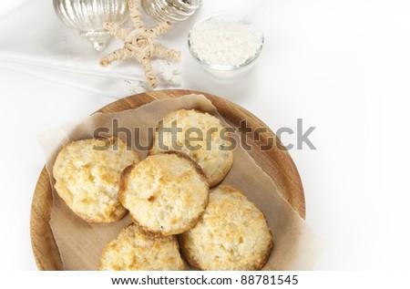 coconut cookies - stock photo