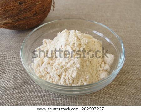 Coconut flour  - stock photo