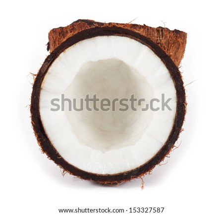 Coconut. isolated on a white background - stock photo
