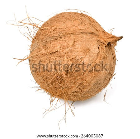 coconut, isolated on white - stock photo