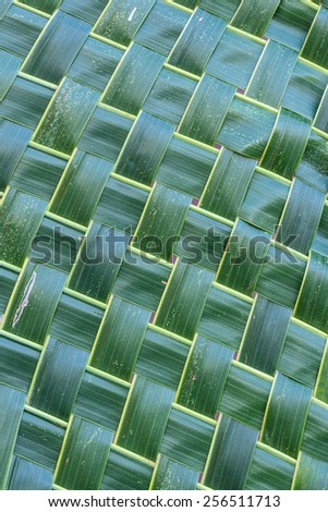 Coconut leaf weave pattern use for background. Abstract background. - stock photo