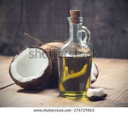 Coconut oil - stock photo