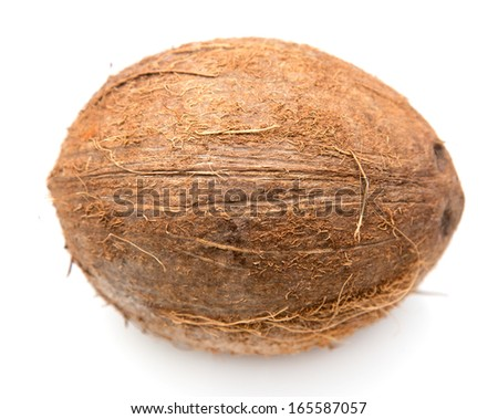 coconut on white background - stock photo