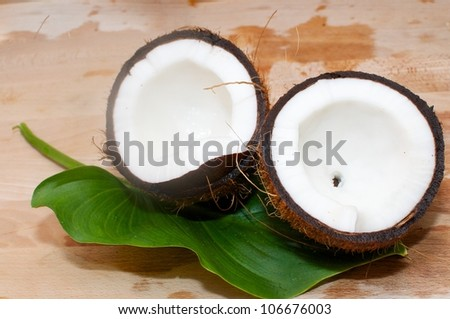 coconut-summer fruit-fresh fruit - stock photo