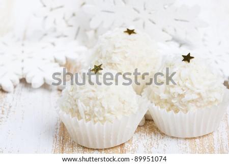 Coconut sweets - stock photo