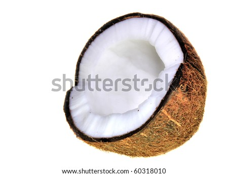 Coconuts on white - stock photo