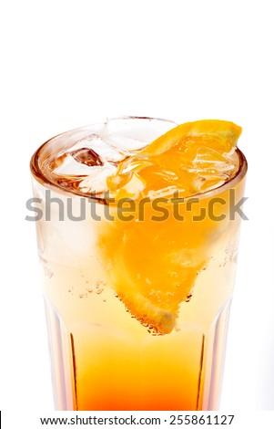coctail with orange - stock photo
