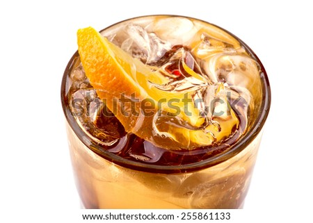 coctail with orange - stock photo