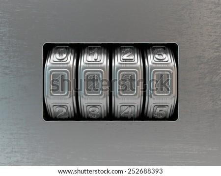 code locker - stock photo