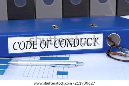 Code of Conduct - stock photo