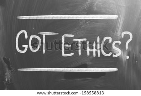Code Of Ethics Concept - stock photo