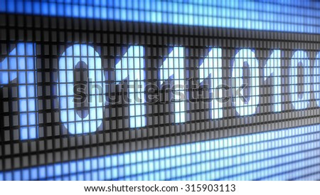Code Proportion 16:9 sign - stock photo