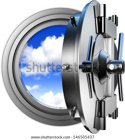 coded cloud computing - stock photo
