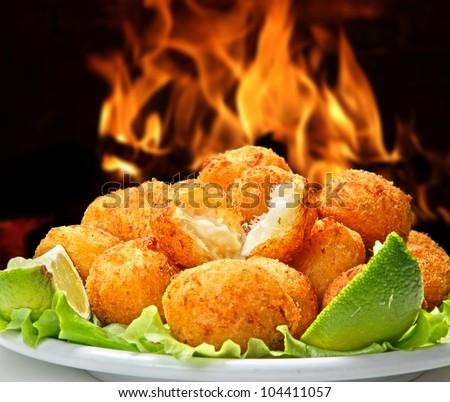 codfish balls - stock photo