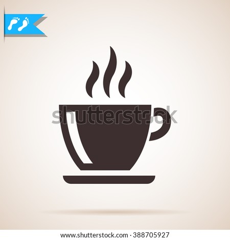 coffe cup icon - stock photo