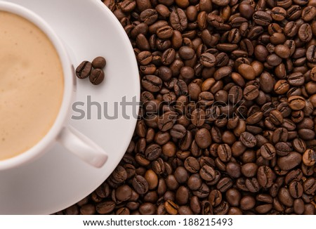 Coffee and beans - stock photo