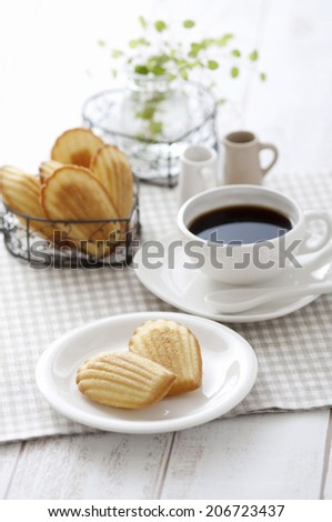 Coffee And Madeleine - stock photo