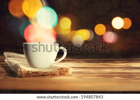 coffee and napkin  - stock photo