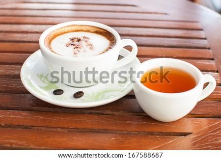 Coffee and tea - stock photo