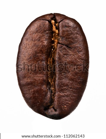 Coffee bean isolated on white background - stock photo