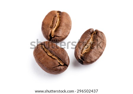 Coffee Bean with white background - stock photo