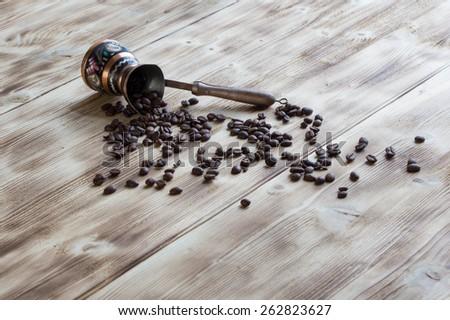 Coffee beans - stock photo