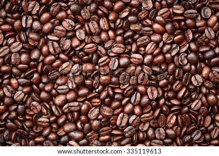 Coffee beans background - stock photo