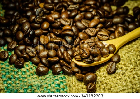 Coffee beans. culinary coffee still life. - stock photo
