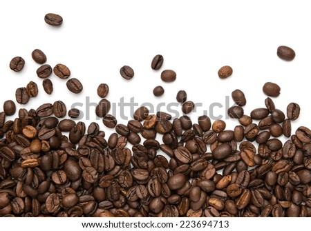 Coffee beans fresh roasted - stock photo