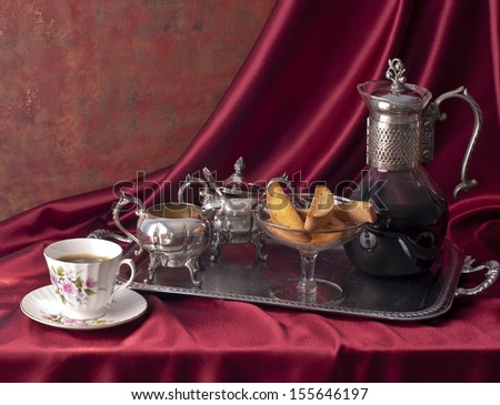 Coffee composition , victorian style. - stock photo