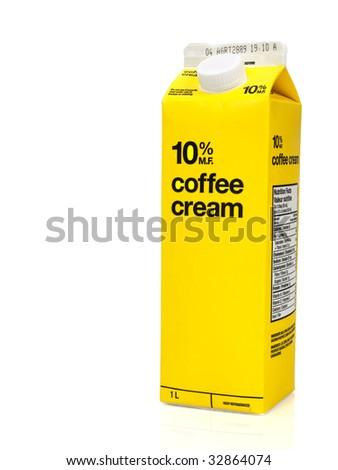 Coffee cream box - stock photo