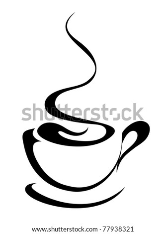 coffee cup (also available vector version) - stock photo