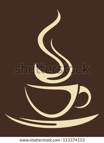 coffee cup (cup of coffee) - stock photo