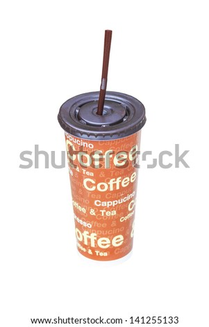 Coffee Cup for take away Isolated - stock photo