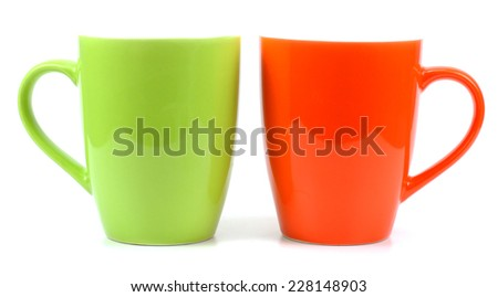 coffee cup isolated. - stock photo