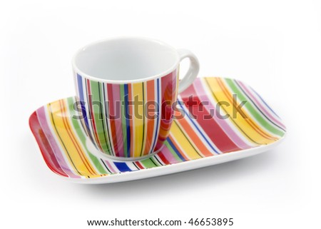coffee cup isolated on a white background - stock photo